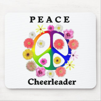Peace Cheerleader Mouse Pad
