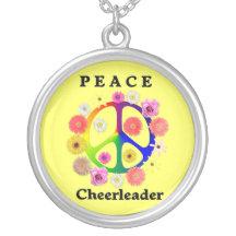 Peace Cheerleader Pendants
