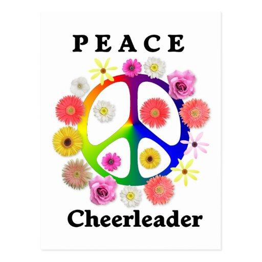 Peace Cheerleader Postcard