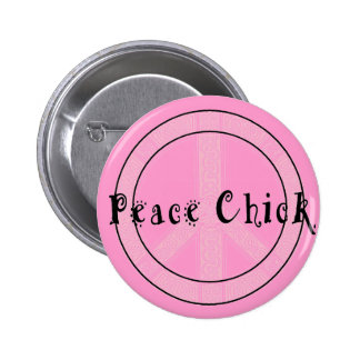 Peace Chick Button