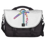 PEACE  CHINESE  MOTIVATIONAL WORD CHARACTER LAPTOP COMMUTER BAG