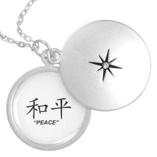 """""""Peace"""" Chinese symbol jewelry set"""