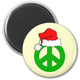 Peace Christmas 2 Inch Round Magnet