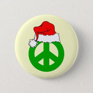 Peace Christmas Button