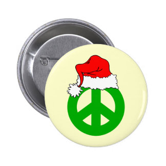 Peace Christmas Buttons