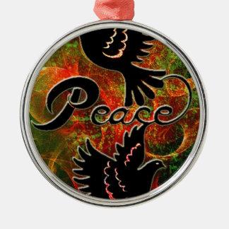PEACE ~ CHRISTMAS.jpg Round Metal Christmas Ornament