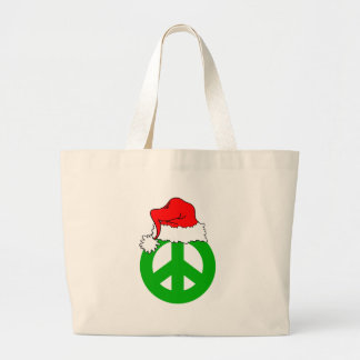 Peace Christmas Large Tote Bag