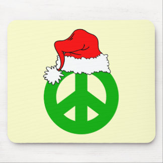 Peace Christmas Mouse Pad