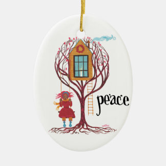 """Peace"" Christmas Ornament"