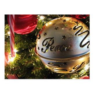 Peace Christmas Ornament Postcard