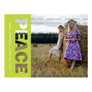 Peace Christmas Photo Postcard