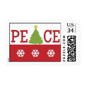 PEACE Christmas Postcard Stamp
