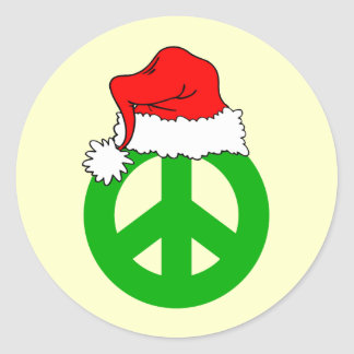 Peace Christmas Stickers