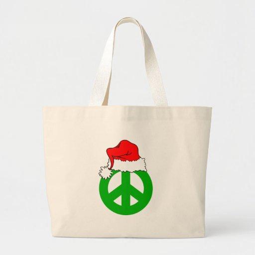 Peace Christmas Tote Bags