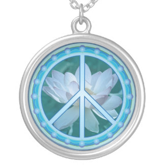 Peace Circle Necklace with Lotus