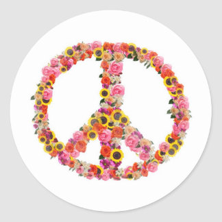 peace classic round sticker