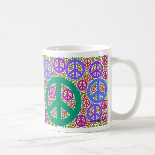 peace classic white coffee mug
