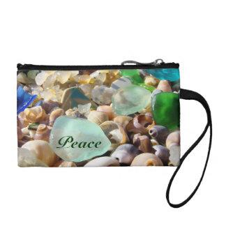 Peace Clutch Seaglass Keys Coins purse clutches