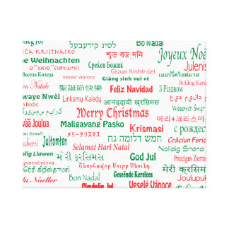 Peace Coexist Happy Merry Christmas Many Languages Canvas Print