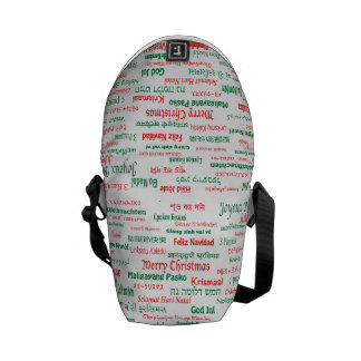 Peace Coexist Happy Merry Christmas Many Languages Courier Bag