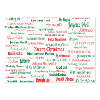 Peace Coexist Happy Merry Christmas Many Languages Large Business Card