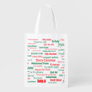 Peace Coexist Happy Merry Christmas Many Languages Market Tote