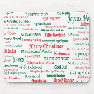 Peace Coexist Happy Merry Christmas Many Languages Mouse Pad