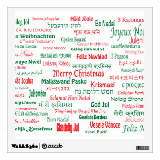 Peace Coexist Happy Merry Christmas Many Languages Wall Decal