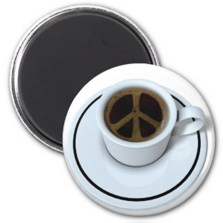 Peace coffee 2 inch round magnet