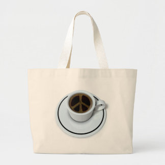 Peace coffee canvas bags