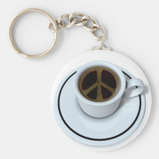 Peace coffee keychain