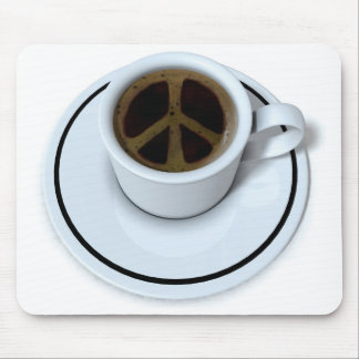 Peace coffee mouse pad