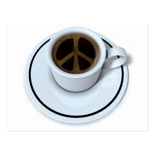 Peace coffee postcard