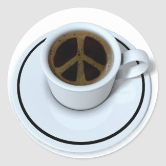 Peace coffee stickers
