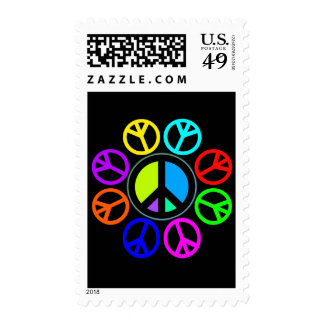 PEACE COLOR WHEEL POSTAGE
