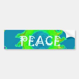 Peace colorful Bumper Sticker Car Bumper Sticker