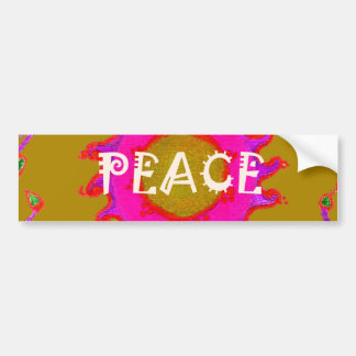 Peace colorful passion Template Car Bumper Sticker