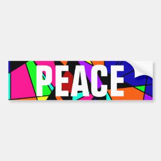 PEACE Colorful Power Art Bumper Sticker