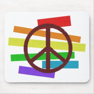 peace colour flag cloth-like mousepads