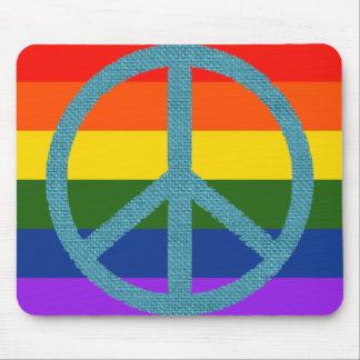 peace colour flag fabric-like mouse pad