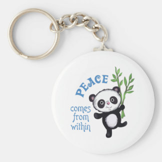 PEACE COMES FROM WITHIN KEYCHAIN