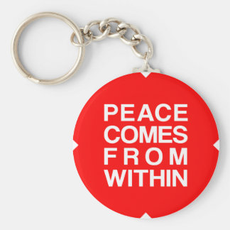 Peace Comes From Within Basic Round Button Keychain