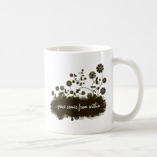 Peace comes from within mug