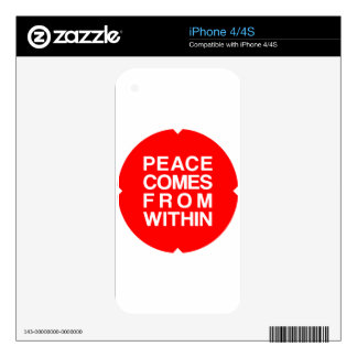 Peace Comes From Within Skin For iPhone 4S