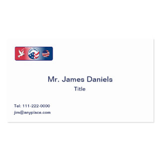 Peace Corps Dove Shield Business Card