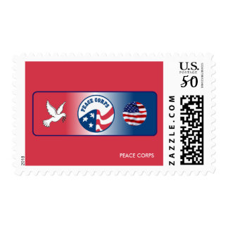 Peace Corps Dove Shield Stamp