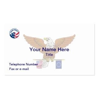Peace Corps Heraldic Eagle Business Card