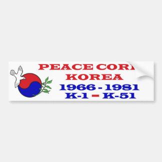 Peace Corps Korea Bumper Sticker Car Bumper Sticker