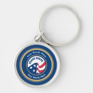 Peace Corps Universal Rope Shield Keychain