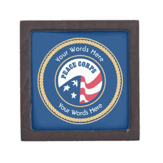 Peace Corps Universal Rope Shield Premium Jewelry Boxes
